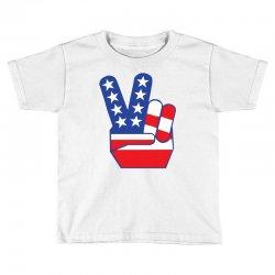 Peace Sign Hand Toddler T-shirt | Artistshot