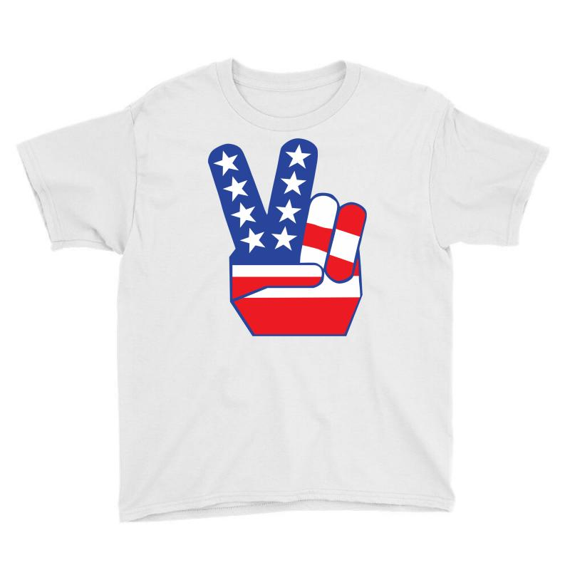 Peace Sign Hand Youth Tee | Artistshot
