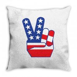Peace Sign Hand Throw Pillow | Artistshot