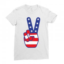 Peace Sign Hand Ladies Fitted T-Shirt | Artistshot