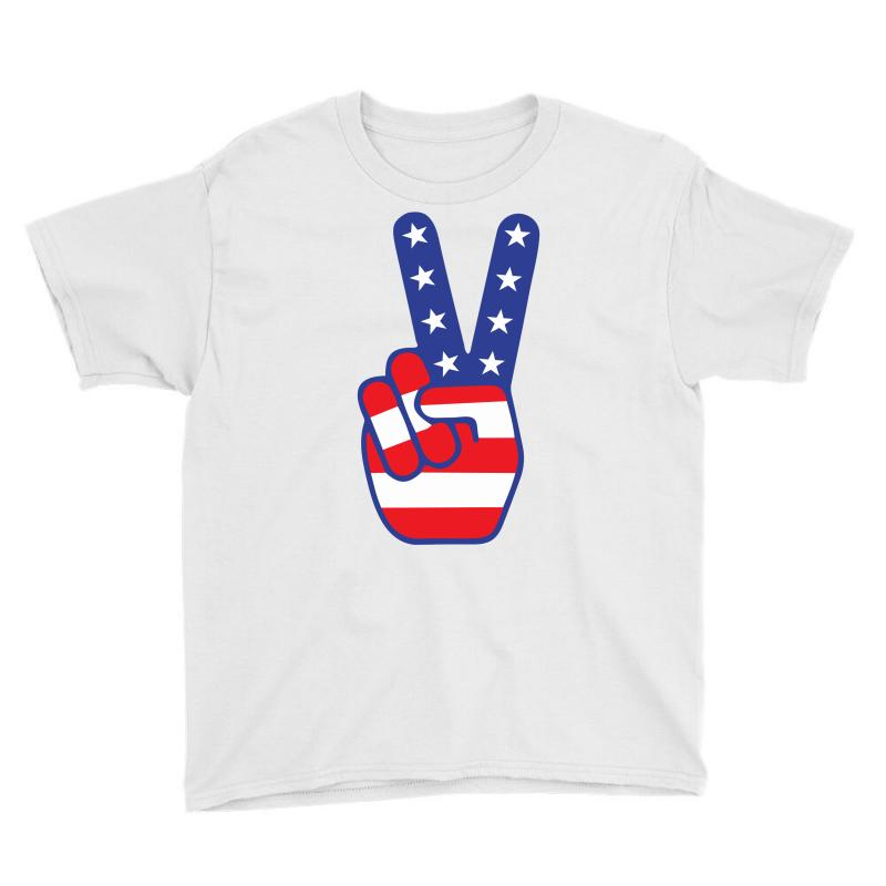 Peace Sign Hand Youth Tee   Artistshot
