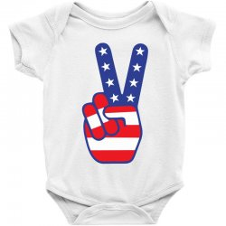 Peace Sign Hand Baby Bodysuit | Artistshot