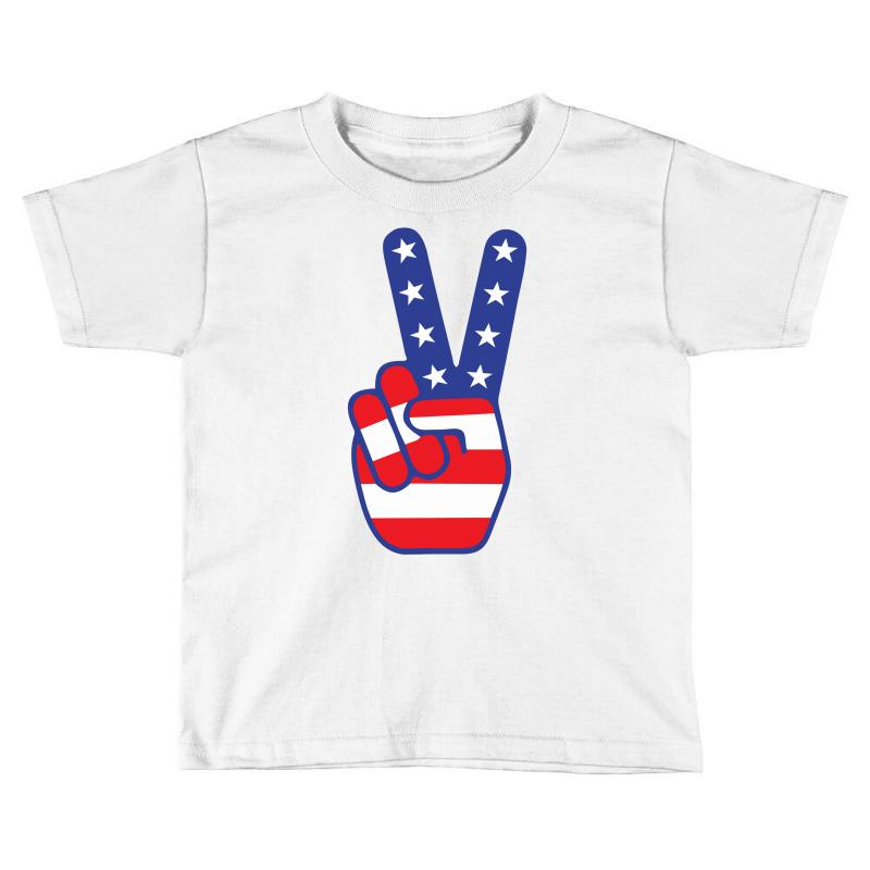 Peace Sign Hand Toddler T-shirt | Artistshot