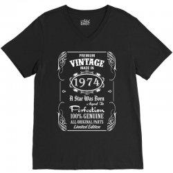 Premium Vintage Made In 1974 V-Neck Tee   Artistshot