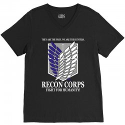Recon Corps- Attack on Titan V-Neck Tee | Artistshot