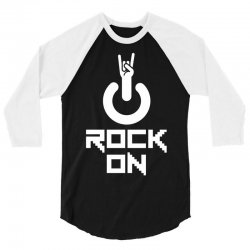 Rock on 3/4 Sleeve Shirt | Artistshot