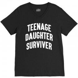 Teenage Daughter Surviver V-Neck Tee | Artistshot