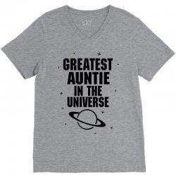 Greatest Auntie In The Universe V-Neck Tee   Artistshot