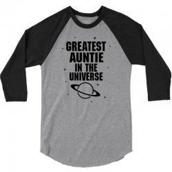 Greatest Auntie In The Universe 3/4 Sleeve Shirt   Artistshot