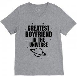 Greatest Boyfriend In The Universe V-Neck Tee | Artistshot