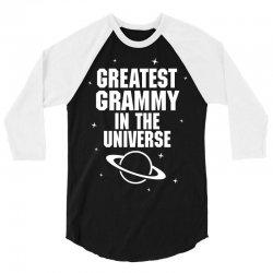 Greatest Grammy In The Universe 3/4 Sleeve Shirt | Artistshot