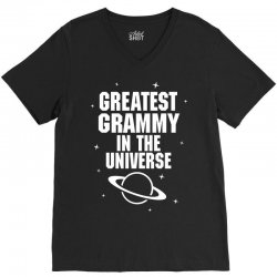 Greatest Grammy In The Universe V-Neck Tee | Artistshot