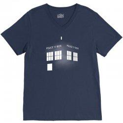Tardis Doctor Who V-Neck Tee   Artistshot