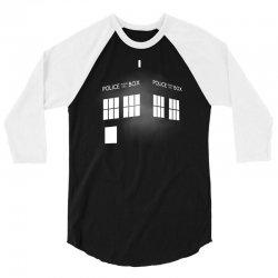 Tardis Doctor Who 3/4 Sleeve Shirt   Artistshot