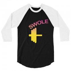 Swole Mates Couple Design 3/4 Sleeve Shirt | Artistshot