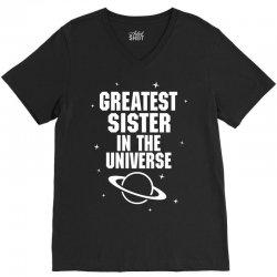 Greatest Sister In The Universe V-Neck Tee | Artistshot