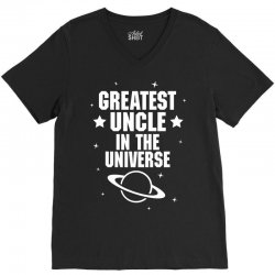 Greatest Uncle  In The Universe V-Neck Tee   Artistshot