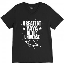 Greatest Yaya In The Universe V-Neck Tee   Artistshot
