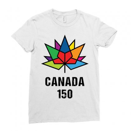 Canada 150th Anniversary Ladies Fitted T-shirt Designed By Tshiart