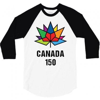 Canada 150th Anniversary 3/4 Sleeve Shirt Designed By Tshiart