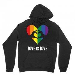 Love Is Love LGBT Rainbow Heart Unisex Hoodie | Artistshot