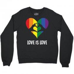 Love Is Love LGBT Rainbow Heart Crewneck Sweatshirt | Artistshot