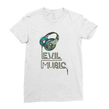 Evil Music Ladies Fitted T-shirt Designed By Estore