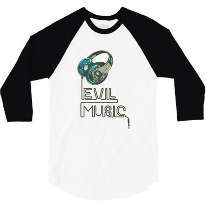 Evil Music 3/4 Sleeve Shirt Designed By Estore