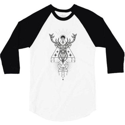 Deer 3/4 Sleeve Shirt Designed By Estore
