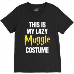 This Is My Lazy Muggle Costume V-Neck Tee | Artistshot