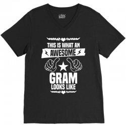 Awesome Gram Looks Like V-Neck Tee | Artistshot