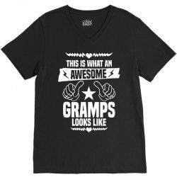 Awesome Gramps Looks Like V-Neck Tee | Artistshot