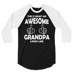 Awesome Grandpa Looks Like 3/4 Sleeve Shirt | Artistshot