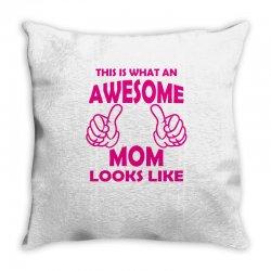 Awesome Mom Looks Like Throw Pillow   Artistshot
