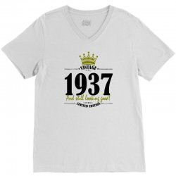 vintage 1937 and still looking good V-Neck Tee | Artistshot