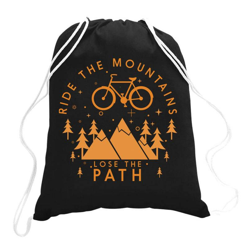 Ride The Mountains Lose The Path Drawstring Bags   Artistshot