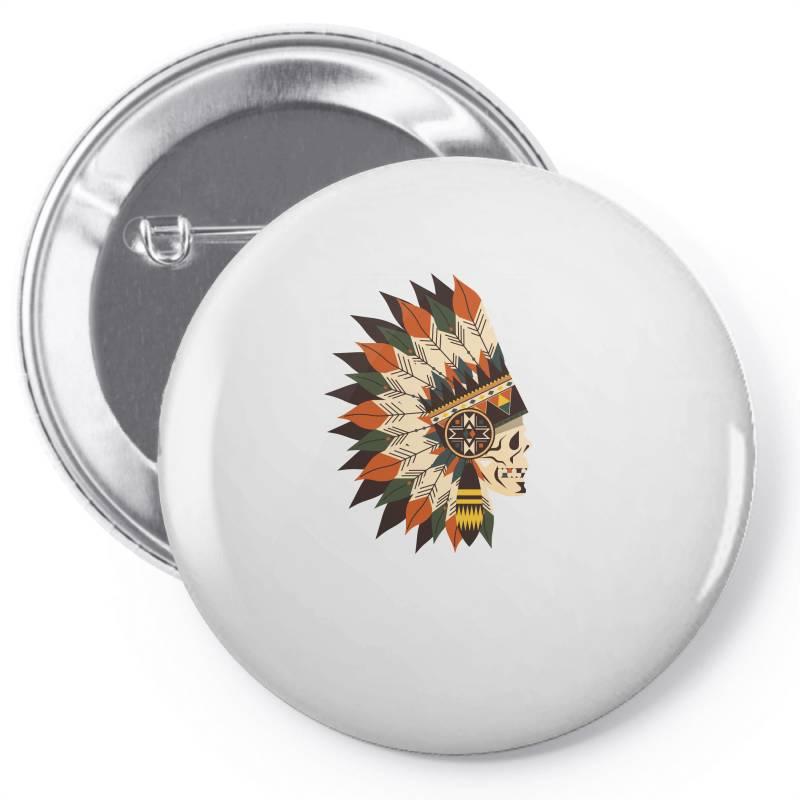 Indian Skull Pin-back Button | Artistshot