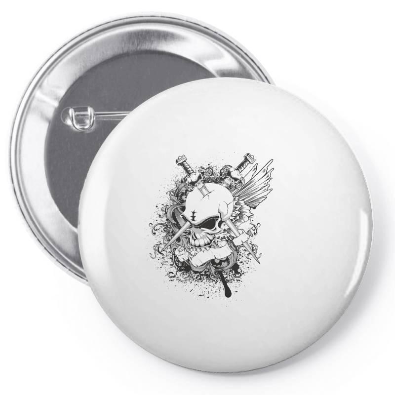 Skull Pin-back Button   Artistshot