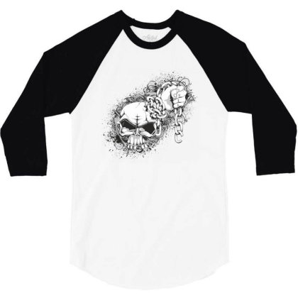 Skull 3/4 Sleeve Shirt Designed By Estore