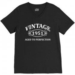 Vintage 1951 Aged to Perfection V-Neck Tee   Artistshot