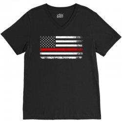 Vintage USA Flag V-Neck Tee | Artistshot
