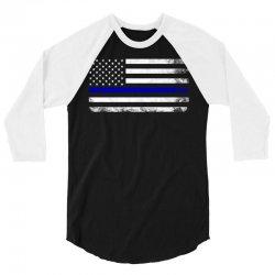 Vintage American Flag 3/4 Sleeve Shirt   Artistshot