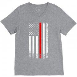 Vintage American Flag V-Neck Tee   Artistshot