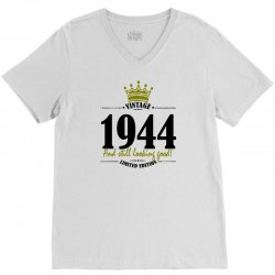 vintage 1944 and still looking good V-Neck Tee | Artistshot
