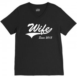 Wife Since 2015 V-Neck Tee | Artistshot