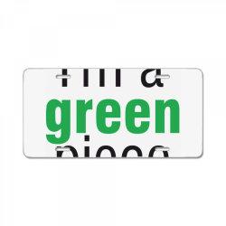 I'm a green piece License Plate | Artistshot