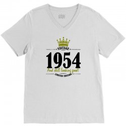 vintage 1954 and still looking good V-Neck Tee | Artistshot