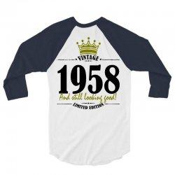 vintage 1958 and still looking good 3/4 Sleeve Shirt | Artistshot