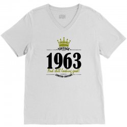 vintage 1963 and still looking good V-Neck Tee | Artistshot