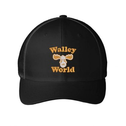 Walley  World Embroidered Embroidered Mesh Cap Designed By Madhatter